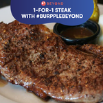 1-for-1 Steak: Cut into these Juicy #BurppleBeyond Deals