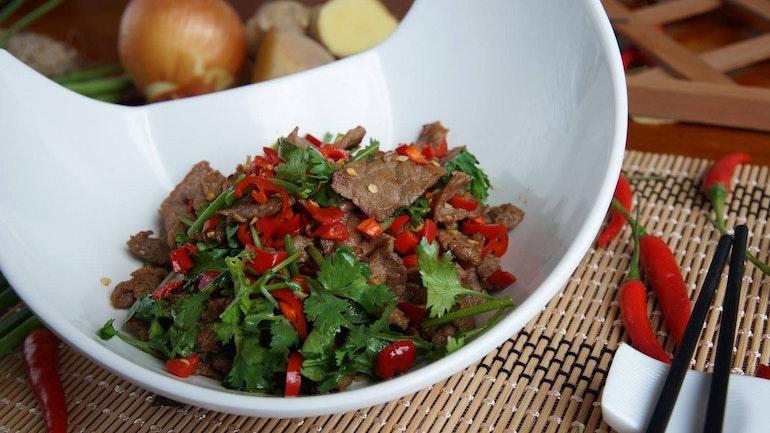 Hunan Style Sgir Fried Beef