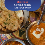 1-for-1 Burpple Beyond Deals: Taste of India