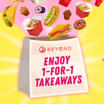Burpple Beyond: Enjoy 1-for-1 Takeaways at Home (17 May - 30 June)